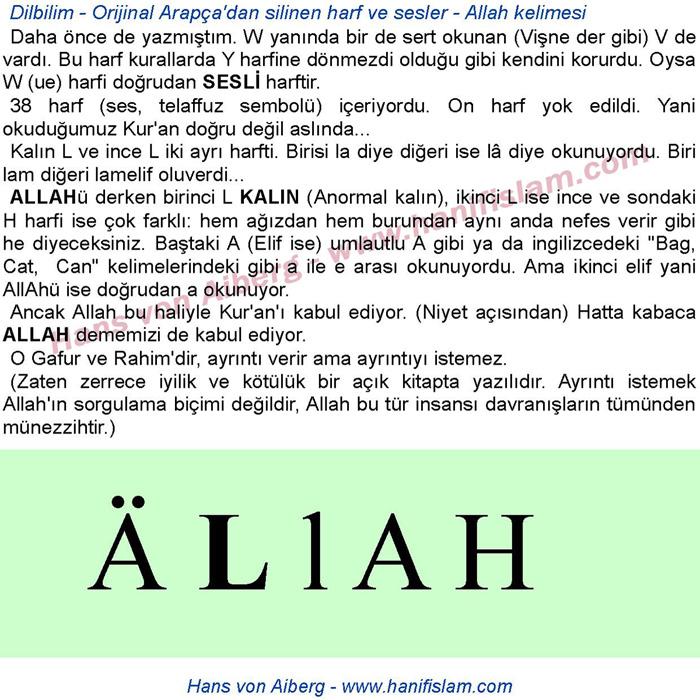 Dilbilim – Yok edilen Arapça harfler – Orijinal Arapça – Allah kelimesi nasıl telafuz edilirdi